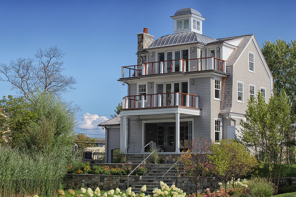 Waterfront home in Old Greenwich, Connecticut built by Karp Associates Inc